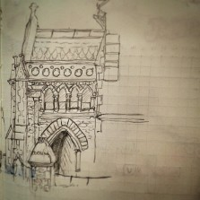10/365. Attempt at the northern side of the Tynedale Baptist Church, Whiteladies Road. Pencil. 20 mins. http://instagram.com/p/pTb4JNny7r/