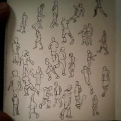 28/365. Mo' footballers. #ARG v #BEL. Pencil. Notebook: Zebulon. https://instagram.com/p/qFHAXTHy0W/