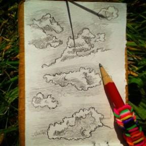 33/365. Cloud studies. Pencil. Notebook: Leonidas. https://instagram.com/p/qT8TYOny_d/