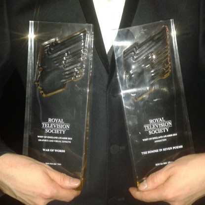 We totally won 2 @RTS_Bristol awards for #WarOfWords and #SevenPoems. Amazing times. Very humbled. (at Bristol Old Vic) https://instagram.com/p/z_BZNfHy3V/