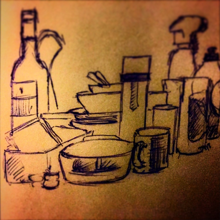 2/365 The washing up needed doing and I could only find a biro. 5 mins. Pen. Notebook: Ethel