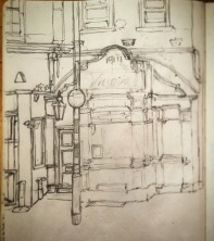 114/365 Another lunch break pass at the architectural complexity that is the Vittoria. One more go after this and I think it might be done. Pencil Notebook: Ethel
