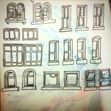 121/365 Windows on Whiteladies Road. There's plenty, I could do a whole book of these. Uniball micro. Notebook: Ethel Approx 20 mins intermittent whilst waiting for playblast renders.