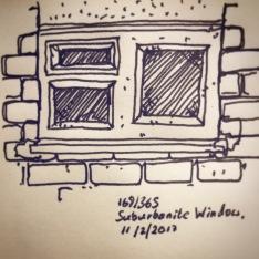 169/365Suburbanite Window. V-ball Notebook: Ichabod