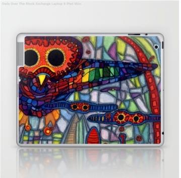 owls laptop skin