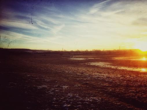 Sunrise near Stone End Batch.